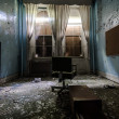Old room of a Crazy man in the Abandoned Hospital — Stock Photo