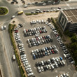 Stock Photo: Tilt Shift picture of Parking in Dubai