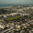 Stock Photo: Tilt Shift picture of School Parking in Dubai