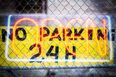 No Parkin Sign — Stock Photo