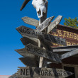 Road sign in the Ghost Town — Stock Photo
