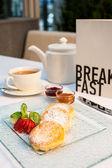 桌上早餐 — 图库照片