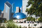 Puerta de la nube - avenida michigan millenium park, chicago — Foto de Stock