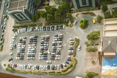 Tilt Shift Parking in Dubai City — Stock Photo