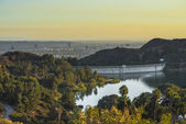 Sunses in California, Los Angles Dam — Stock Photo