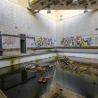 Interior of Old Swimming Pool — Stock Photo