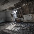 Stock Photo: Attic in abandoned building