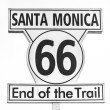 Stock Photo: Route 66 sign, End of trail in SantMonica, Los Angeles