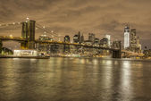 HDR Image of Brooklyn Bridge in New York — Stock Photo