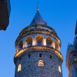 Beautiful Night view on Galata tower — Stock Photo