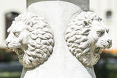 Lions faces on Fountain in Gulchane Park, Istanbul — Stock Photo