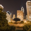 Stock Photo: Landscape view of Clouds Gate at Millenium Park in Chicago