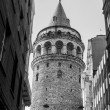 Stock Photo: Black and white Image of famousGalattower in Istanbul