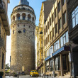 Beautiful view on Galata tower in the morning, Istanbul — Stock Photo