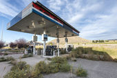 Abandoned gas station in Utah — Stock Photo