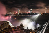 Night Landscape View on Toronto from Niagara Falls, USA side — Stock Photo