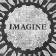 Stock Photo: Imagine Sign in New York Central Park, John Lennon Memorial