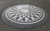 Imagine Sign in New York Central Park, Jhon Lenon Memorial — Stock Photo