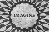 Imagine Sign in New York Central Park, John Lennon Memorial — Stock Photo