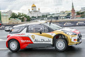 Professional WRC driver Daniel Sordo in Moscow City Racing Circle — Stok fotoğraf
