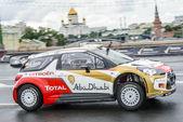 Professional WRC driver Daniel Sordo in Moscow City Racing Circle — ストック写真