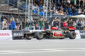 Professional Formula 1 Lotus Renault team in Moscow — Stock Photo
