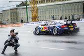 プロの dtm のレース ドライバー マイク rowe — ストック写真