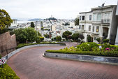 Lombard street, San-Francisco — Stock Photo