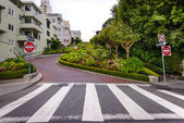 Lombard street, San Francisco — Stock Photo