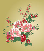 Vintage Flowers — Stock Vector