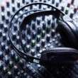 Headpnones on soundmixer — Stock Photo #14094162