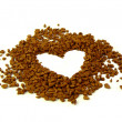 Coffee heart — Stock Photo