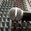 Mixer and microphone — Stock Photo #14538423