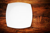White plate — Stock Photo