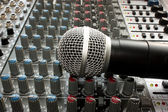 Mixer and microphone — Stock Photo