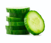 Sliced Cucumber in Stack — Stock Photo
