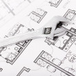 Wrench nuts and plans - Stockfoto