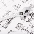 Wrench nuts and plans — Stockfoto