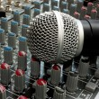 Mixer and microphone - Stock Photo