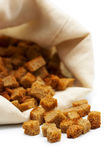 Croutons on white — Stock Photo