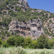 Dalyan tombs - Stock Photo