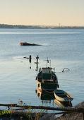 Eski tekneler — Stok fotoğraf