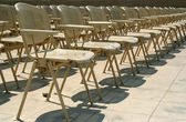 Chairs in a rows — Stock Photo