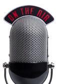 Retro mikrofon — Stock fotografie