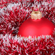 Stock Photo: Christmas ball and tinsel