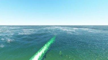 подводный нефтепровод — Стоковое видео