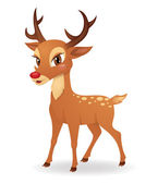 Cute deer. — Vector de stock