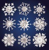 Flocos de neve. — Vetorial Stock