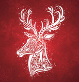 Christmas deer. — Stock Vector
