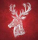 Christmas deer. — Stock Vector